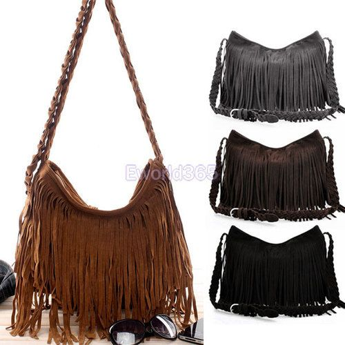 3xEuropean & American Style Star Fashion Kwasten Bags Hobo Clutch Portemonnees Handtassen Vrouwen Schouder bolsaszakken 4 kleuren gratis verzending $36,66