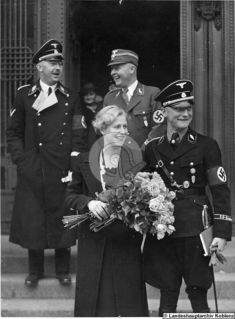 Heinrich Himmler attending the wedding of an SS man