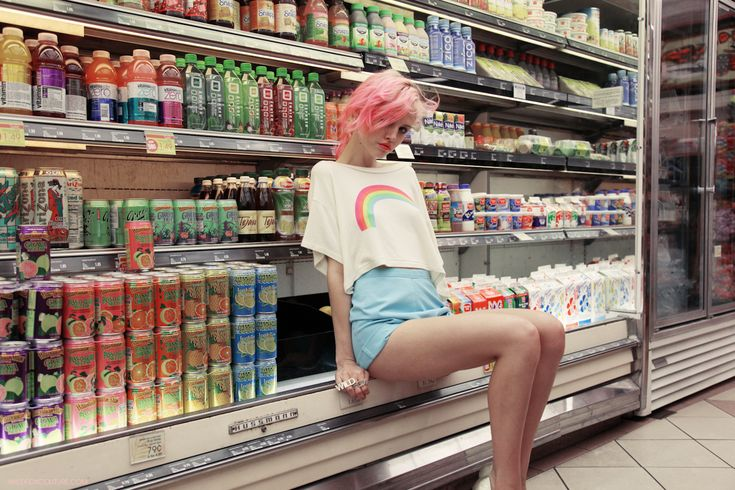 I love the supermarket shot! I would want to have Jules grappling milk or yogurt behind me