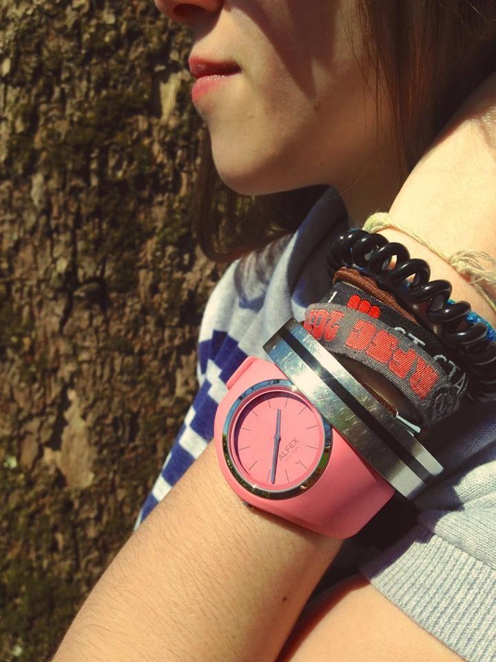 IKON pink aurora:that's mine! #alfex #design #ikon #swissmade  #fashion  #fashionblogger #watch #outfit #accessories