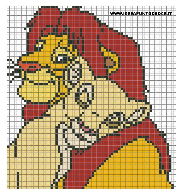 The Lion King perler bead pattern