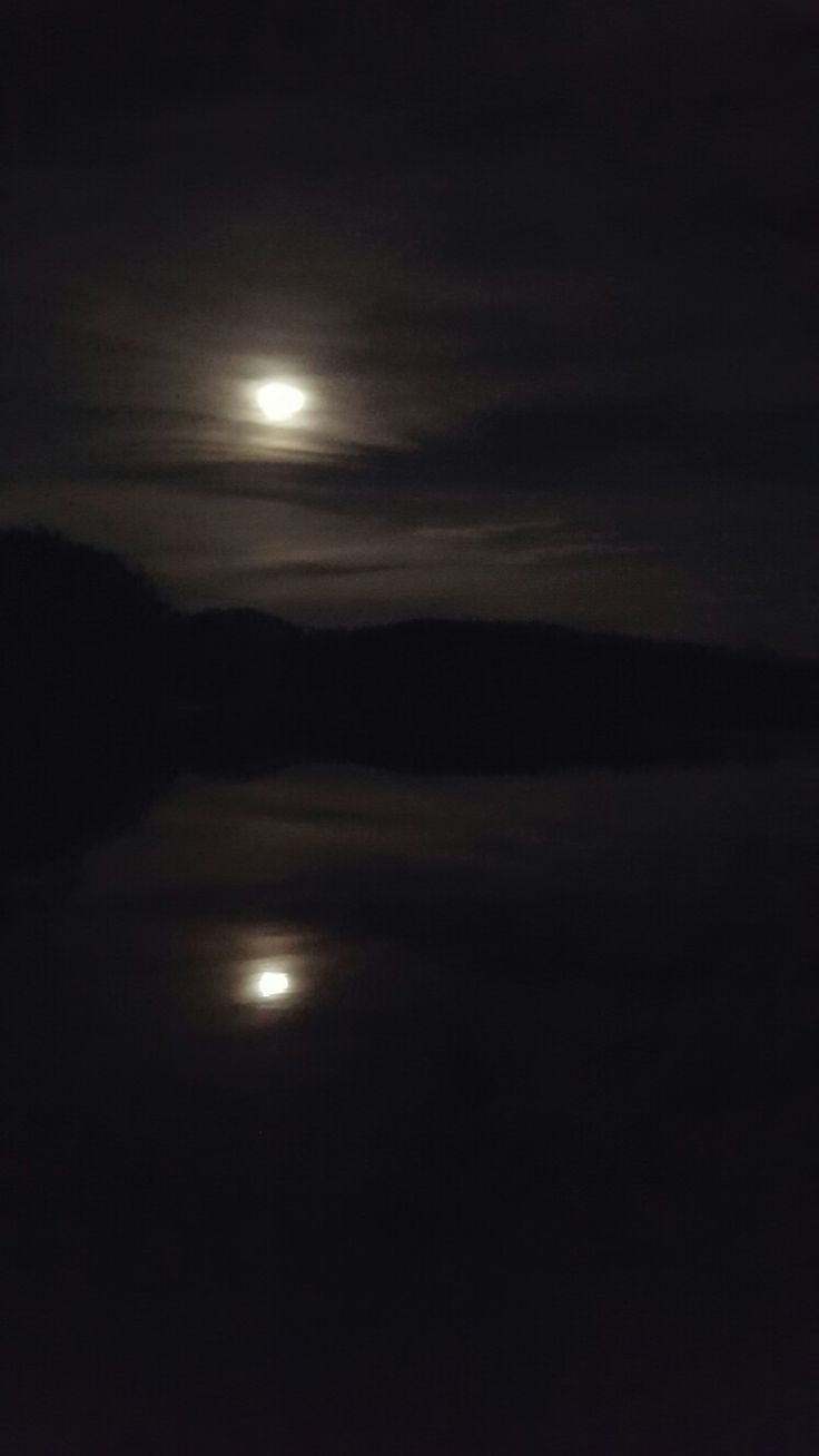 Lake Manitou under the night sky