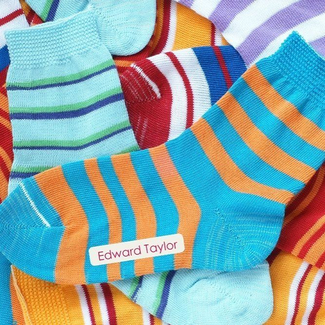 Can't remember whose socks are whose? Use our Iron On Labels on all your family's socks and make sorting the laundry easier!