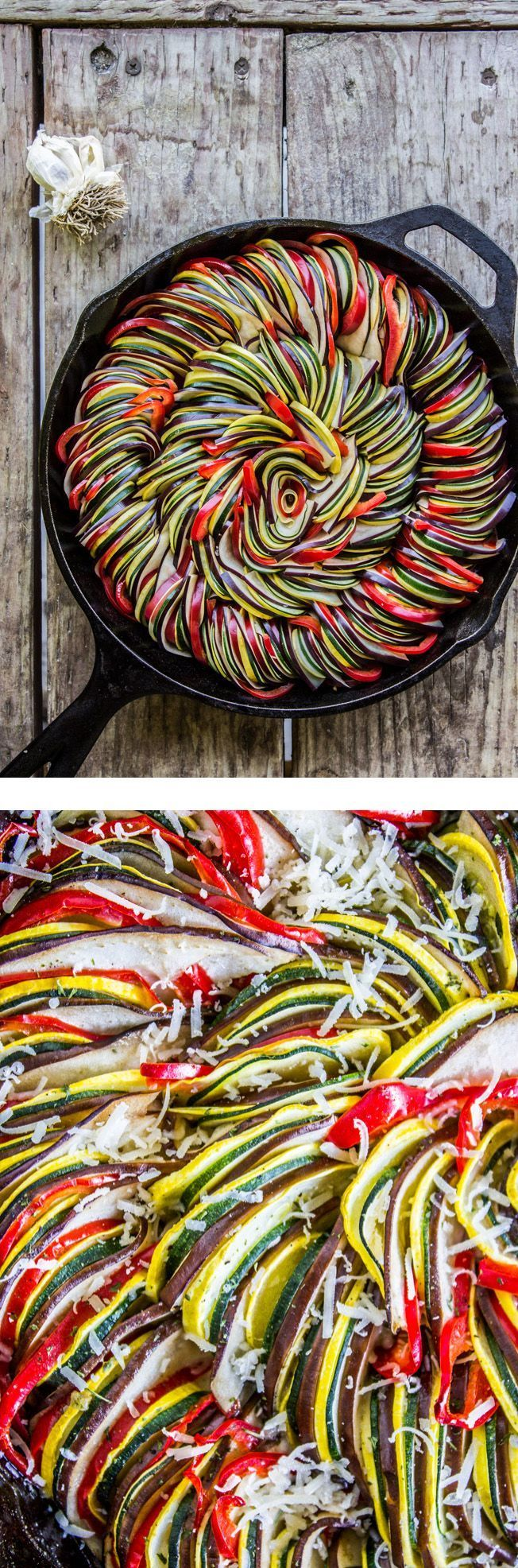Roasted Garlic Ratatouille #ratatouille #healthy #appetizer