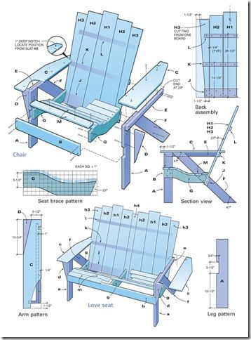 20 best adirondack chair plans images on pinterest for Adirondack style house plans