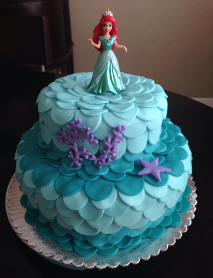 Birthday Cake Ideas Mermaid : Little Mermaid Birthday Cake!!!!!!! By Me Pinterest ...