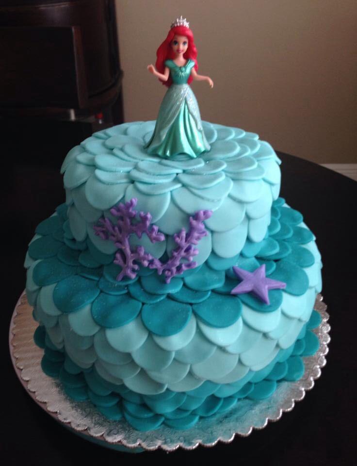 Little Mermaid Birthday Cake Recipe Image Inspiration of Cake