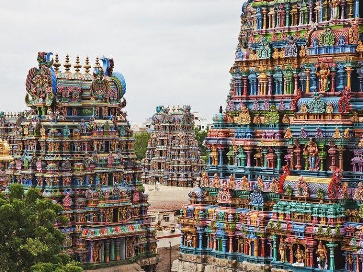 Le-temple-Minakshi-de-Madurai-en-Inde-1 Le temple Mînâkshî de Madurai en Inde