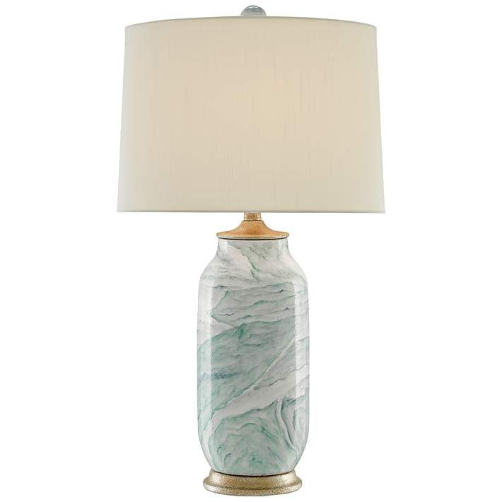Currey And Company Sarcelle Sea Foam Terracotta Table Lamp
