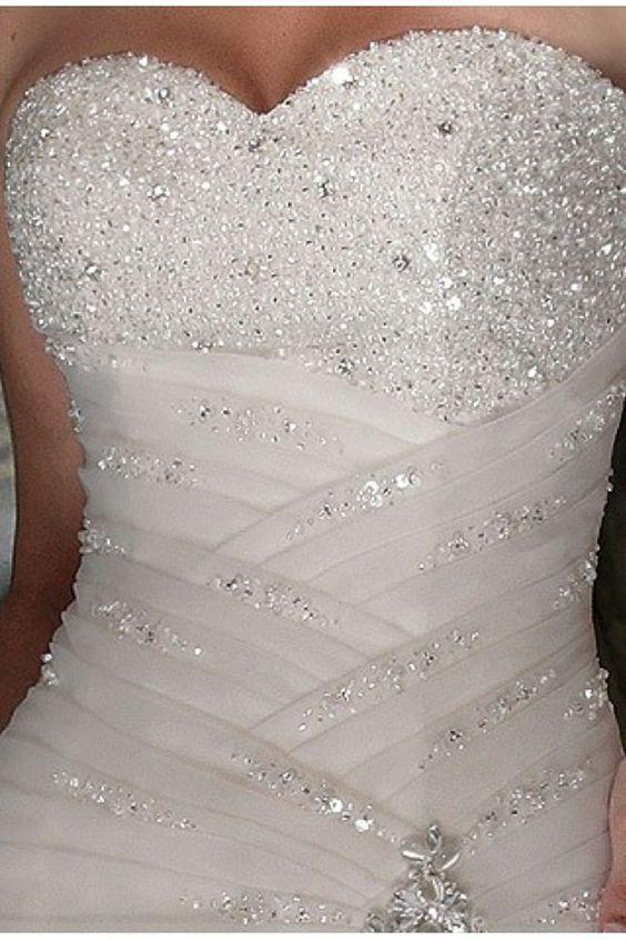 a-line organza sweetheart natural waist brush train wedding dress - wedding dress #weddingdress .: