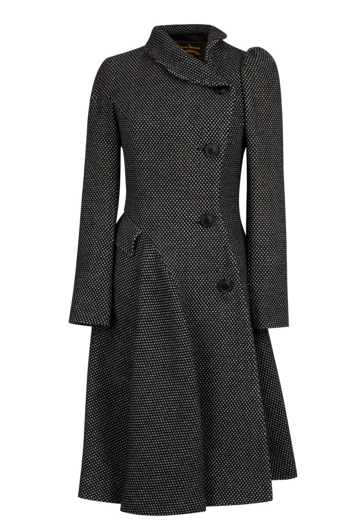 Vivienne westwood anglomania Storm Coat in Black (white) | Lyst
