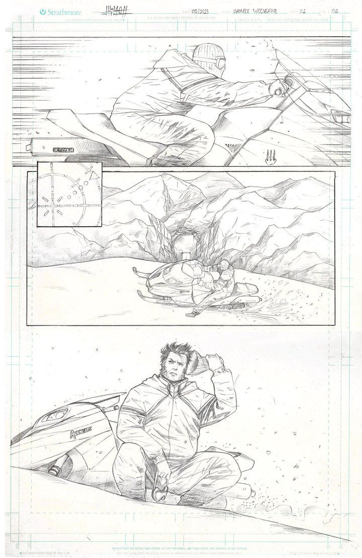 Page sample wolverine by Wilton Santos