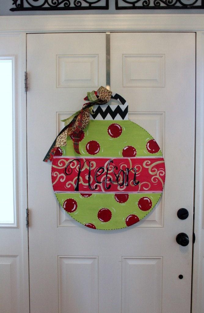 Ornament Door Hanger for Christmas by LetterMeThis on Etsy, $55.00