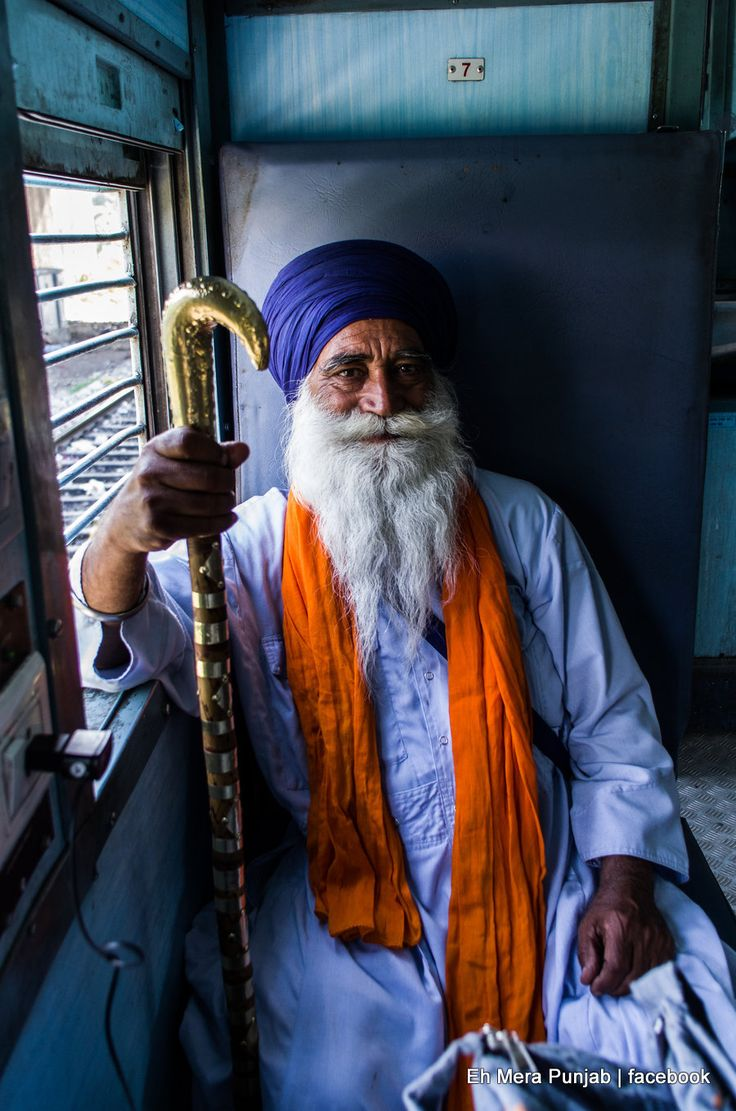 Sikh Pilgrim on a train to Amritsar