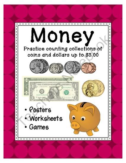 money within 5 posters worksheets and games from diary of a grumpy teacher shop on. Black Bedroom Furniture Sets. Home Design Ideas
