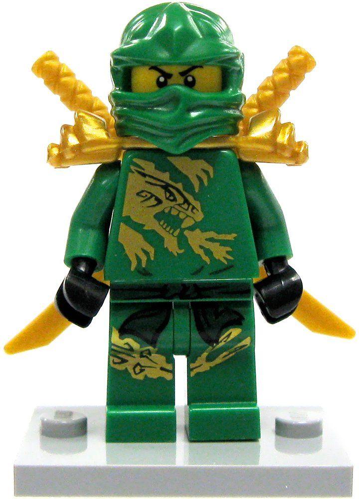 Lego ninjago lloyd minifigure green gold ninja loose - Ninjago lloyd ...