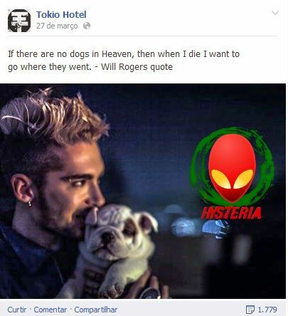 If there are no dogs in Heaven... then when I die I want to go where they went - Will Rogers #quote  Read more: http://tokiohotelhysteriapt.blogspot.pt/2014/03/facebook-twitter-tokio-hotel-27032014.html#ixzz2y9IIpXYJ