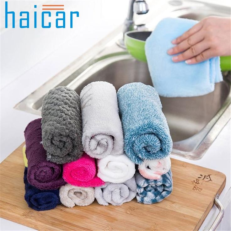 Haicar Anti-grease Cloth Bamboo Fiber Washing Towel Magic Kitchen Cleaning Wiping Rags U70308