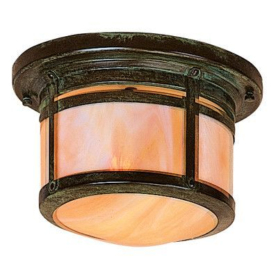 Arroyo Craftsman Berkeley 1 Light Outdoor Flush Mount Shade Color: Clear Seedy