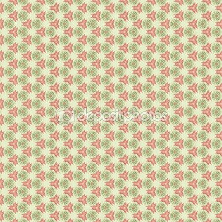 Decorative abstract and lacy pattern, on the green