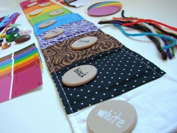 Sensoriel couleur tri Playset - Montessori et Waldorf inspiré des couleurs et matériels d'apprentissage sensoriel