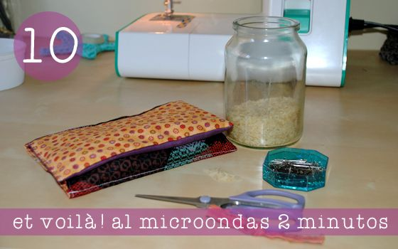 DIY tutorial Bolsa de Arroz para la cama