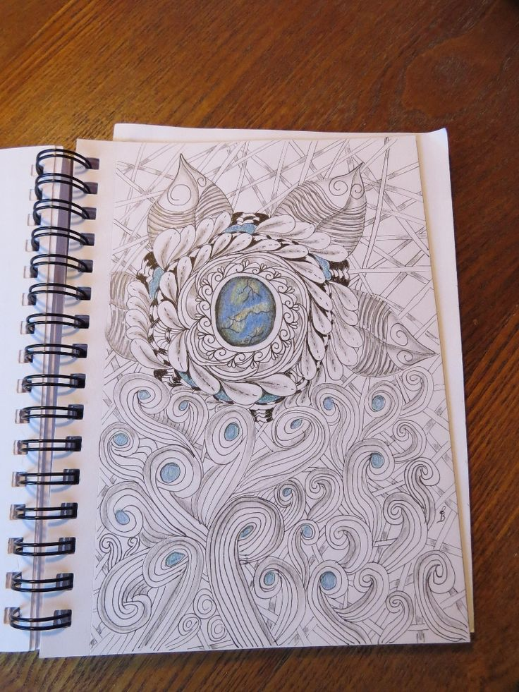 experimenting with zentangle.