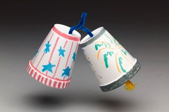 Independence Day Bells - use clay pots and string down like wind chimes (my variation from this)
