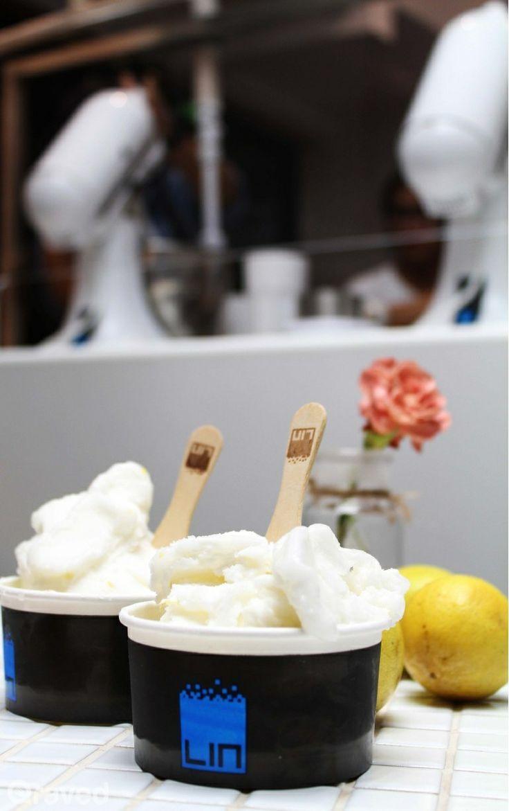 Lemon Ice Cream at Lin Artisan Ice Cream