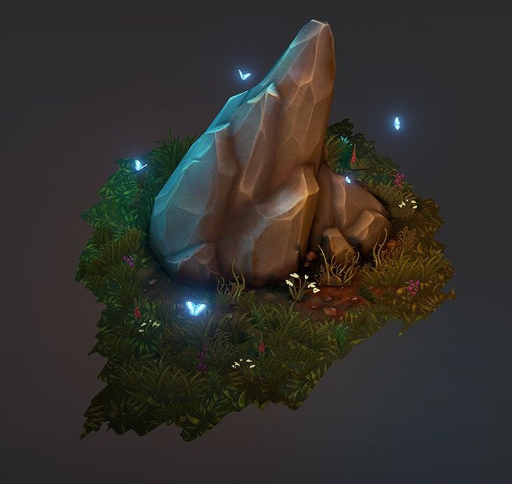 Rock Formation Diorama, Andy Hansen on ArtStation at https://www.artstation.com/artwork/rock-formation-diorama