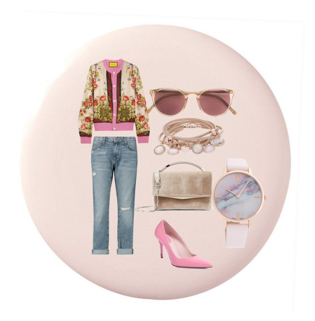 Untitled #2 by iioanak on Polyvore featuring polyvore fashion style Gucci Current/Elliott Fendi Eddie Borgo Marjana von Berlepsch Oliver Peoples clothing