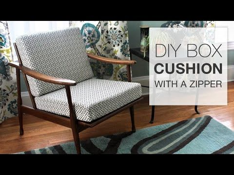 How to Make a Box Cushion with a Zipper - YouTube