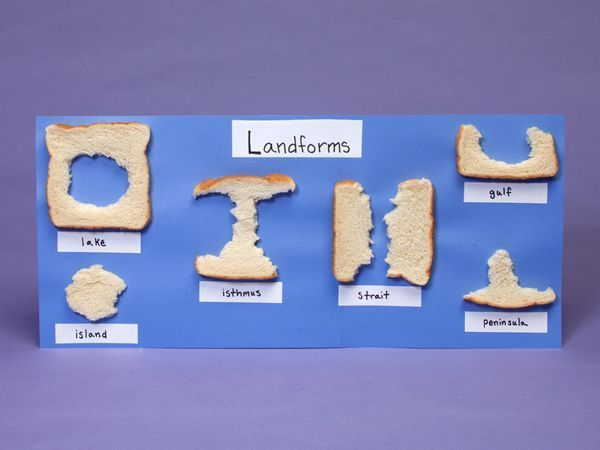 """Loaves of Landforms"" (Scholastic.com) I love this tactile, hands-on idea for teaching children about different types of landforms. :)"