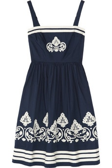 Blue sundress by Collette by Collette Dinnigan. I was so going to buy this but Miranda Kerr bought the last one. Cheeky cow.