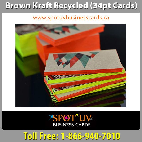 The 10 best luxury business cards images on pinterest luxury brand brown kraft recycled business cards in canada reheart Gallery
