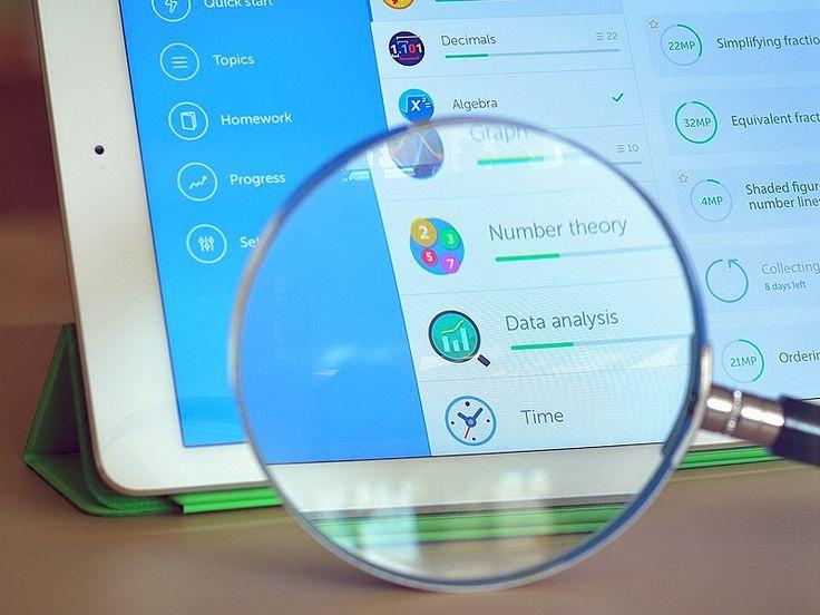 UI design for iPad app by Cuberto