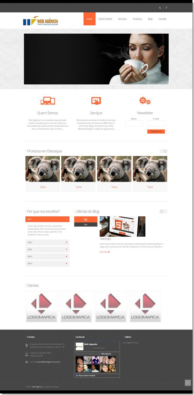 Pré customizado para meu primeiro site, veja o link abaixo para acessar a previa do site, disponível em todas as cores, acessível de todos os dispositivos moveis (celulares, tablets, netbooks).   http://www.rafafigueiredo.com.br/touchm_wa  Tecnologia Utilizadas:  - PHP  - MYSQL  - CODEIGNITER  - HTML5   - CSS3   - RESPONSIVE