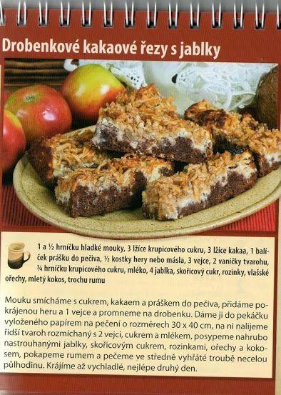 Drobenkové kakaové řezy s jablky II