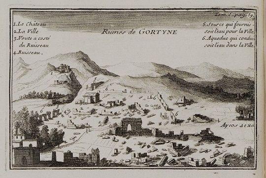 Η αρχαία Γόρτυνα στα 1717…