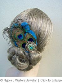 DIY Peacock hair jewelry piece http://www.sheffield.edu/htmlsrc/jewelry-design-course.html