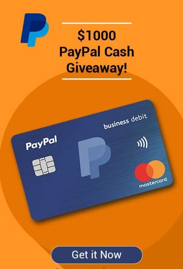 1000 Paypal Cash Giveaway Paypal Gift Card Giveaway 100