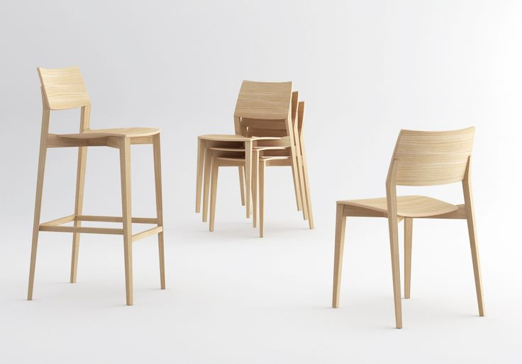 LIGNO chair & stool designed by Giancarlo Bisaglia