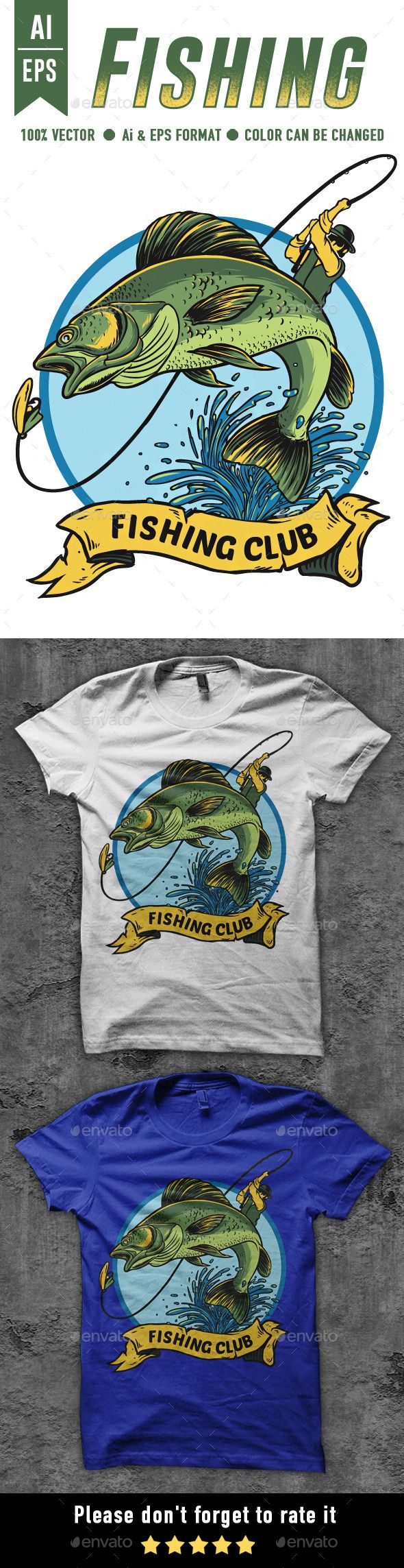 Design t shirt transfer template - Fishing T Shirt Design