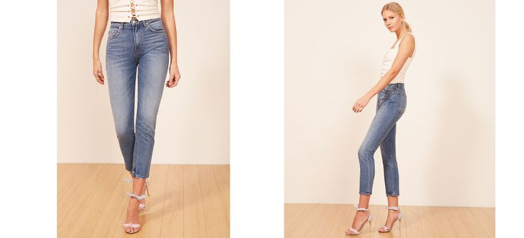 The Julia Crop High Cigarette Jean is part of the Reformation Jeans collection. This is a high rise, cigarette jean with a finished hem and slightly cropped leg. Every pair of jeans you buy cleans a thousand gallons of water.