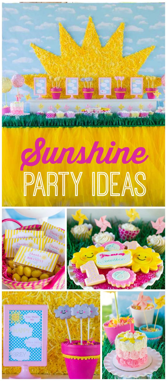 131 best Sunshine Party Ideas images on Pinterest | Girl parties ...