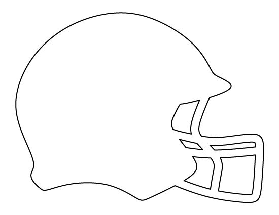 Football helmet pattern. Use the printable outline for crafts, creating stencils, scrapbooking, and more. Free PDF template to download and print at http://patternuniverse.com/download/football-helmet-pattern/