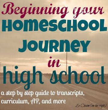 Beginning Your Homeschool Journey in High School | Le Chaim (on the right)