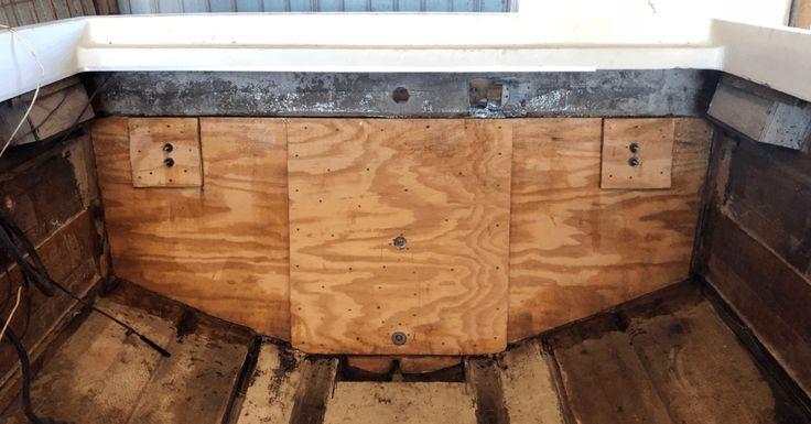 How To Rebuild The Transom On A Fiberglass Boat Boat Restoration Marine Grade Plywood Marine Plywood
