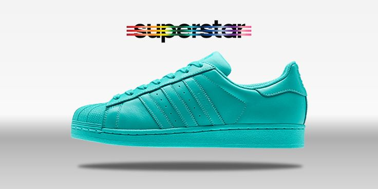 adidas superstar supercolor verde acqua