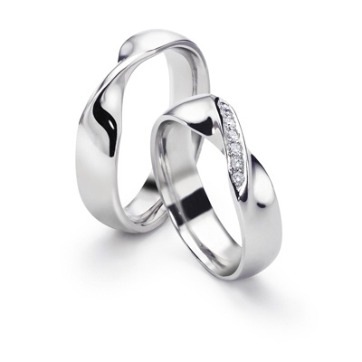 135 best Mobius Wedding Bands images on Pinterest Contemporary